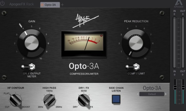 Apogee FX Rack: Opto-3A Compressor